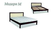 Кровать деревянная Модерн мягкая ДОК