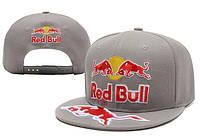 Кепка с прямым козырьком Red Bull серые