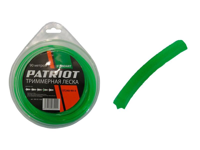 Леска patriot бухта мал 2,4мм х 90 мм звезда зелёная
