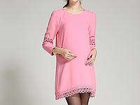 Розовое платье для будущих мам