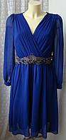 Платье женское вечернее красивое шикарное с декором миди бренд Little Mistress р.46 5916