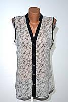 Блуза шифоновая. 36-42 Чёрно-белая, фото 1