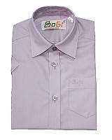 Рубашка сиреневая для мальчика с коротким рукавом. Размеры 110-116..