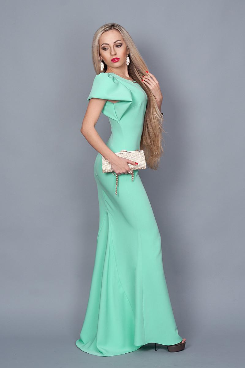 d9b7cfe15beb Женское вечернее длинное платье в пол,мятное 44,46,48, цена 475 грн ...
