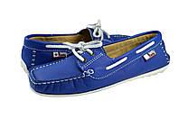 Женские мокасины топсайдер beppi 14-6640 синие   весенние