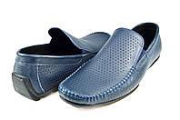 Мужские мокасины alexandro 1617 синие   летние , фото 1