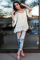 Блуза шифоновая с открытыми плечами