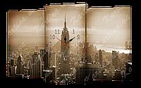 Модульная картина с часами 191 Нью-йорк