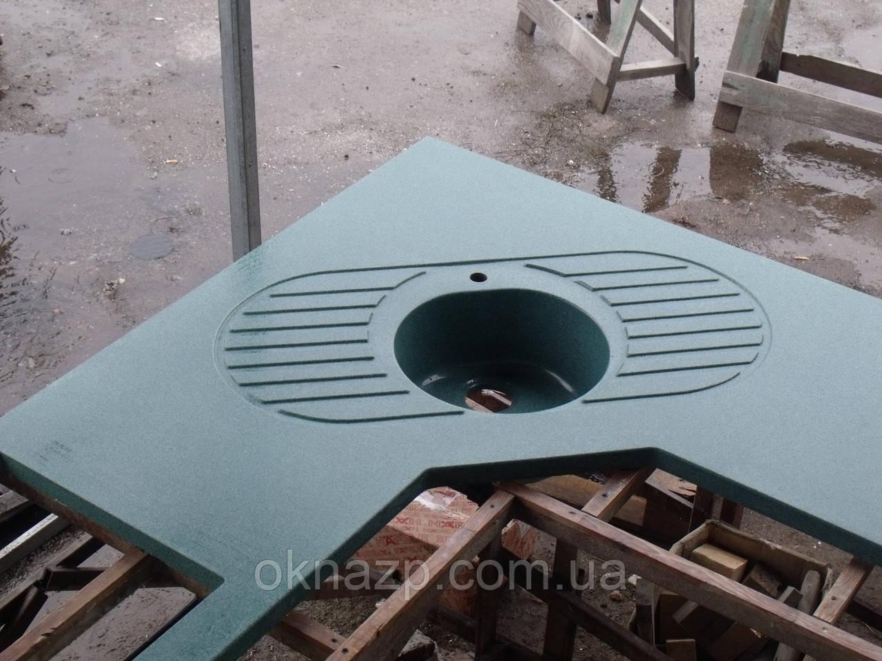 Кухонная столешница из камня (цена за литую мойку 2400грн./шт.)