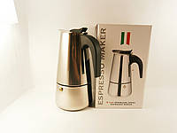 Гейзерная кофеварка на 9 чашки (нержавеющая сталь)