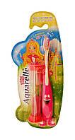 Детская зубная щетка Aquarelle Kids + песочные часы (розовая) 3+