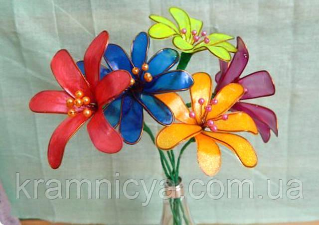 набор Цветы из витражных красок
