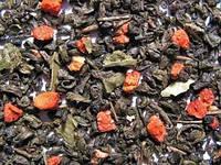 Чай зеленый Земляника со сливками (зеленый), 0,5кг.