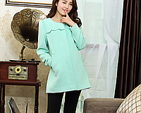 Пиджак для беременных и кормящих мятного цвета