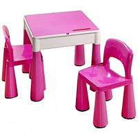 Комплект Tega MAMUT стол+2 стула MT-001 899 light pink/dark pink