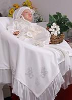 """Торжественное крестильное полотно (крыжма) """"Благодать"""" (айвори)"""