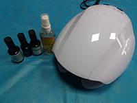 Cтартовый набор для покрытия ногтей гель-лаком Naomi с Led лампой 24 вт