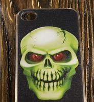 """Пластиковый 3D Чехол """"The skull"""" для Apple iPhone 4/4S Чехол-Накладка на мобильный телефон"""