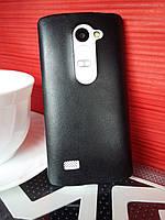 Силиконовый чехол для LG Leon H324 с кожаным покрытием