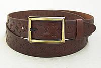 Женский кожаный ремень Louis Vuitton коричневый, фото 1