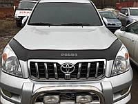 Дефлектор капота (мухобойка) Toyota Land Cruiser Pradо 120 2003-2008 (без клыков)