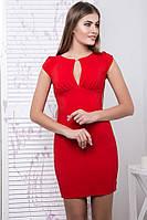 Летнее короткое платье IR Арина  цвета: изумруд | электрик | красный | чёрный,
