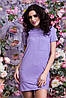 Женское стильно платье замша, фото 2