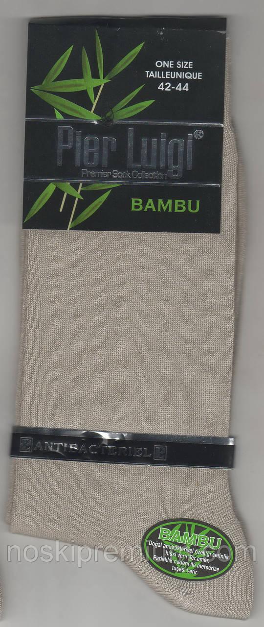 Носки мужские бамбук Pier Luigi, Турция, антибактериальные, без шва, размер 42-44, бежевые, 02593