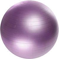 Мяч для фитнеса ФИТБОЛ 65см  синий, фиолетовый, серебристый