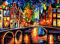 Картина по номерам Роспись на холсте Огни Амстердама KH1013