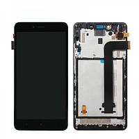 Дисплей (экран) Xiaomi Redmi Note 2 с сенсором (тачскрином) черный