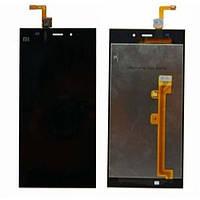 Дисплей (экран) Xiaomi Mi3 с сенсором (тачскрином) черный