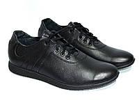 Кроссовки черные мужские, натуральная кожа. 42 размер