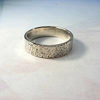 Кованое серебряное кольцо
