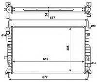 Радиатор Ford Mondeo 93-00 1.8TD 2.0 16V2.5 24V 616*418 1024051