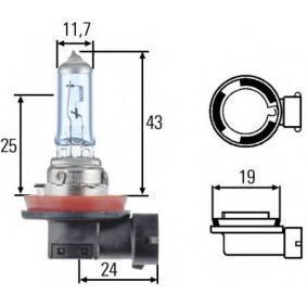 Автомобильная лампа H8 +30% Hella 8GH 008 356-151