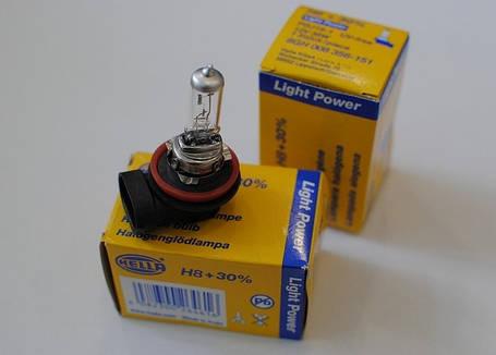 Автомобильная лампа H8 +30% Hella 8GH 008 356-151, фото 2
