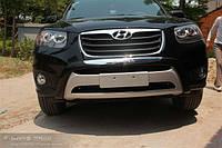 Накладка на передний и  задний бампер Hyundai Santa Fe 2010-2012