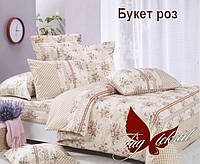 Евро комплект постельного, ткань ранфорс, Букет роз
