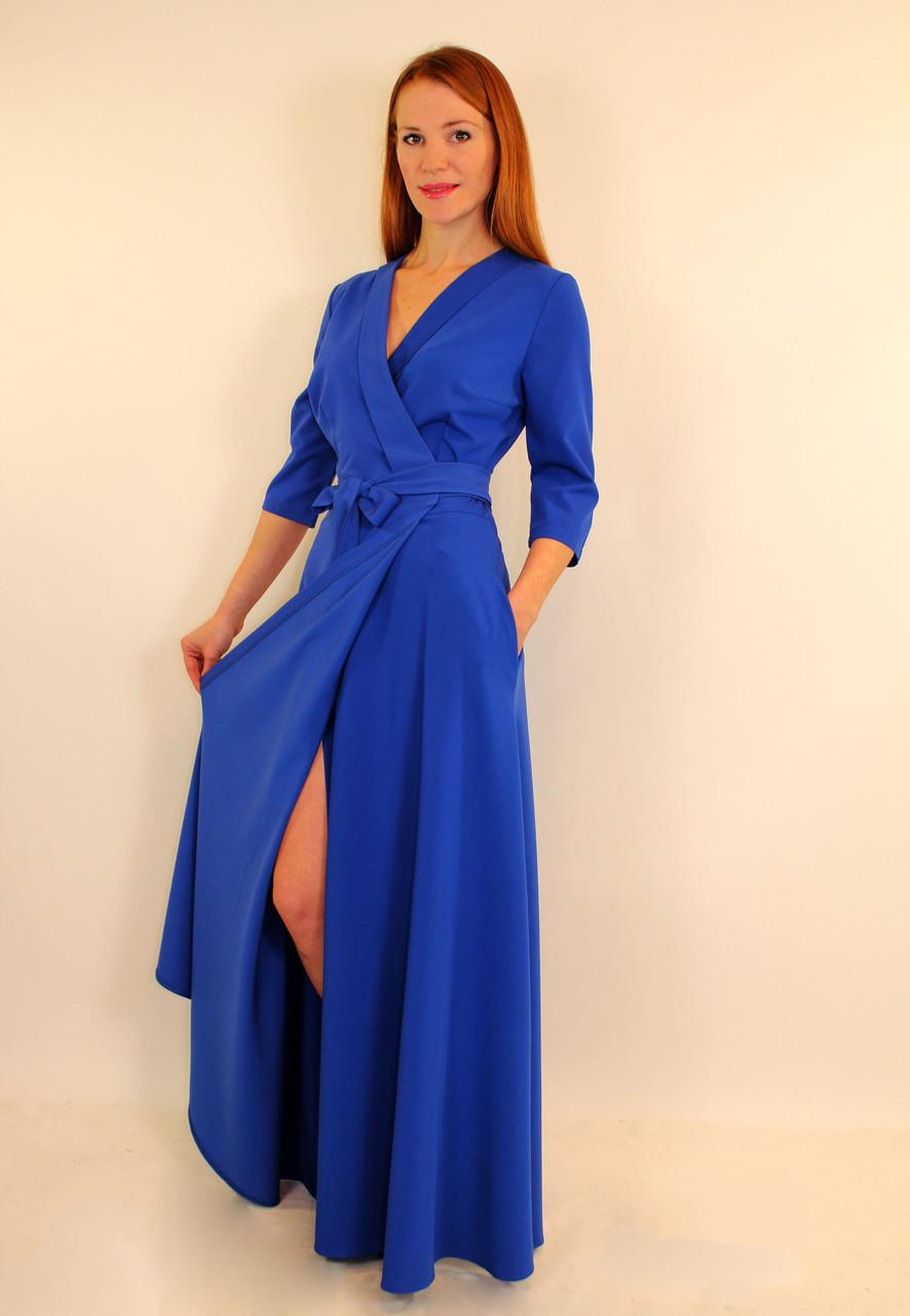 платье с запахом длинное фото