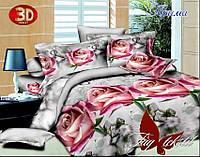 Евро комплект постельного, 3D, хлопок, Прима