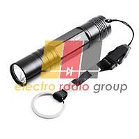 Карманный фонарик Bailong BL-5001-01, 1LED, 1 режим, корпус- алюминий, питание 2*АА, 145*20мм, Подар