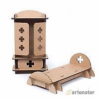 Кукольная мебель для спальни «Клевер», Cartonator