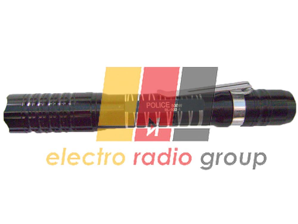 Карманный фонарик Bailong BL-502-1, 1LED, 1 режим, корпус- алюминий, питание 2*АА, 245*20мм, Подароч