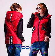 Тёплая жилетка для девочки подростка 2 цвета, фото 1