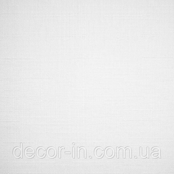 """Тканинні ролети """"Льон"""" білий 47,5 см х 170 см"""