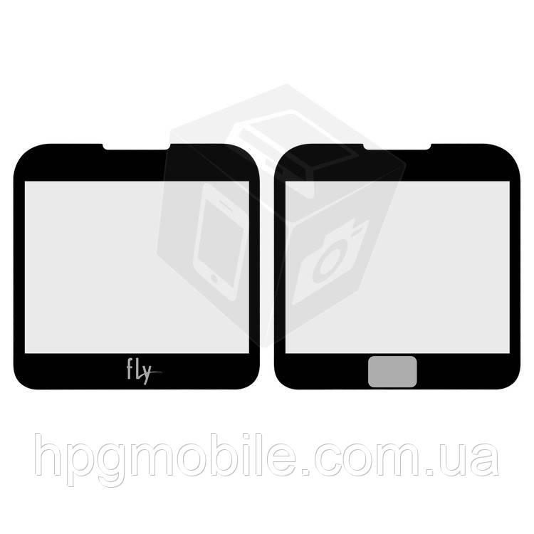 Защитное стекло корпуса для Fly EZZY 4, черное