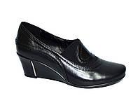 Туфли кожаные женские на танкетке. 36 размер, фото 1