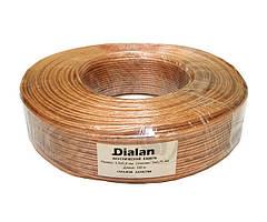 Акустический кабель Dialan CCA 2*0,75мм прозрачный ПВХ 1м