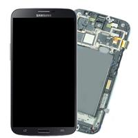 Дисплейный модуль (экран + сенсор) Samsung i9200 Galaxy Mega 6.3 чёрный с рамкой (оригинал Китай)